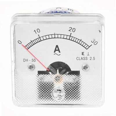 YS-50 Analog AC 0–30A Ampere Panel Meter Weiss X7G6