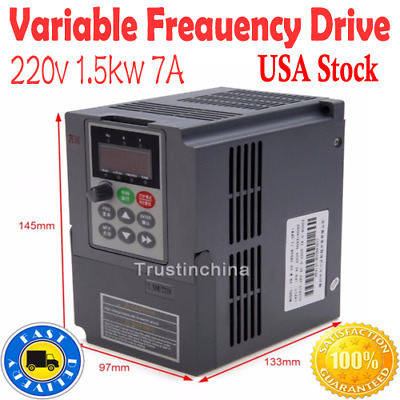 220V 1.5KW 2HP Single Phase To 3 Phase Output Variable Frequency Drive Inverter