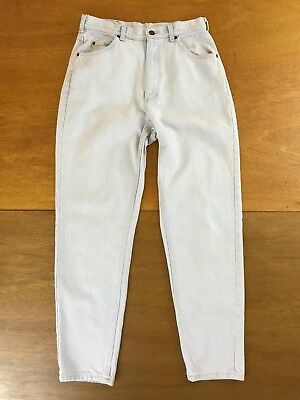 VTG Lee Denim Jeans 1990s Reverse Fit Light Wash Made In USA Women's Size M 14