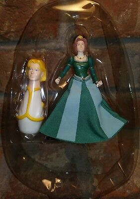 "2004 Hasbro Shrek 2 Action Figure Princess Fiona 5"" prince charming punching bag"