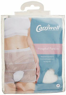 Womens Hospital Panties Pack of 5  Fits Size 10-16 HQ Breathable Maternity Panty