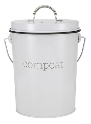 Home Kitchen Compost Bin Food Scrap Trash Can Waste Composter Garden Recycling