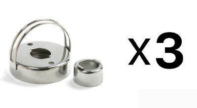 Norpro Stainless Steel Cookie Donut Biscuit Cutter Doughnut Maker 3496 (3-Pack)