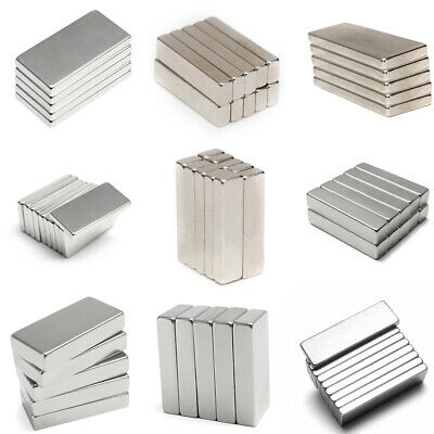 5-50Pcs Super Strong N52 Cuboid Magnet Block Rare Earth NdFeB Neodymium Magnets