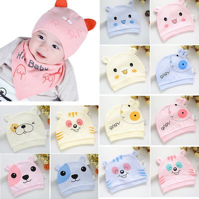 Infant Baby 0-3 Month Boy Girl Toddler Cotton Soft Hats Cap Newborn Hat Beanie