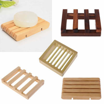 Vintage Natural Wooden Soap Tray Holder Handmade Container Storage Dish Bathroom
