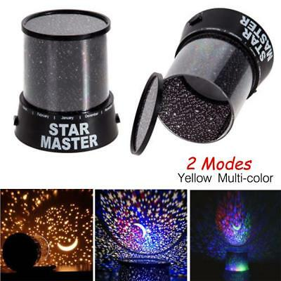 Romantic LED Cosmos Star Master Sky Starry Night Projector Bed Wall Lamp Gift OE