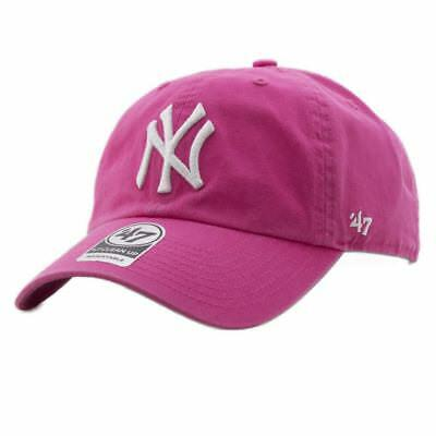 fe31efee8c57d9 Cap 47 Brand Mlb New York Yankees Clean Up Curved V Relax Fit Pink Men