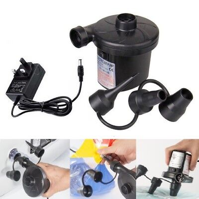 240V Electric Air Pump Inflator For Inflatables Airbeds Pools Sofa Toys Camp New