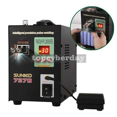 737B Spot Welder 220V 1.5KW Battery Spot Welding Machine LED Light for 18650