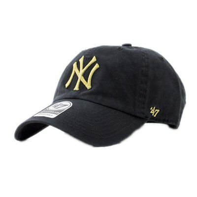 Casquette 47 Brand Mlb New York Yankees Clean Up Curved V Relax Fit Noir  Homme 1c81a3e8677a
