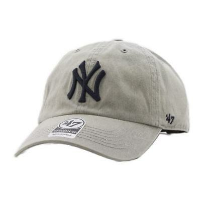 Gorra 47 Brand Mlb New York Yankees Clean Up Curved V Relax Fit Cement Beige Hom