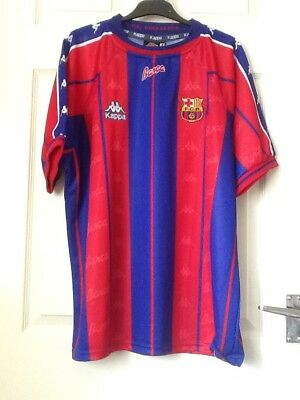 0cc862258 Kappa F C Barcelona Football Shirt Top Large Blue Red Excellent Condition