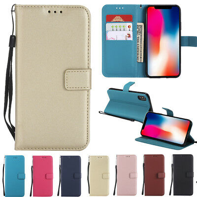For Apple iPhone X 10 6S 7 8 Plus Leather Flip Magnetic Stand Wallet Case Covers