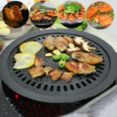 Black Korean Non-Stick Barbeque Magic Pan - For Outdoor or Indoor Easy Grill