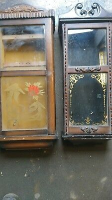Collection of ANTIQUE CLOCK CASES and FACES