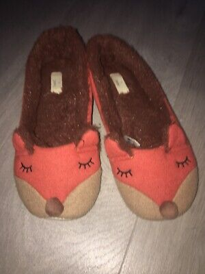 Cute Next Fox Ladies Girls Slippers Size 4 🦊 House Shoes