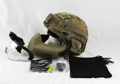 Revision Batlskin Viper A3 Helmet Complete System Interlocking Long Rails Medium