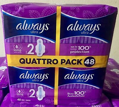 ALWAYS ULTRA QUATTRO Sanitary Pad Towels with Wings - Normal