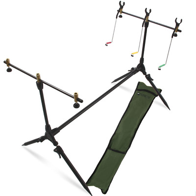 NGT Deluxe Session Rod Pod + 3 Indicators, 3 Rod Rests & 2 Buzzer Bars in Case
