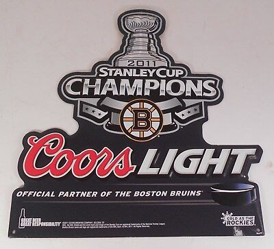 Coors Light 2011 Stanley Cup Champions Boston Bruins Sign