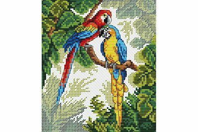 Cross Stitch Kit Parrots M-033