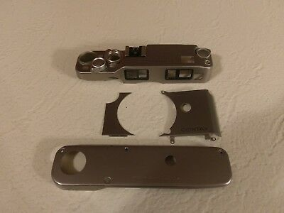 Contax G2 - Exterior Titanium Shell - Silver - Replacemant Parts