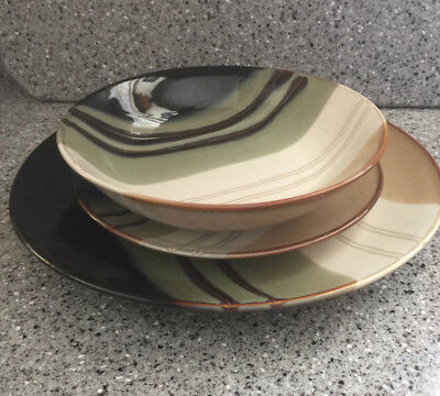 HOME TRENDS JAZZ- 7 3/4  SOUP BOWL- 7-1/ & SET OF 12 Home Trends JAZZ 4 of 10 1/2