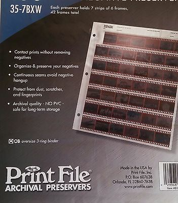 Print File 35-7BXW 35mm Negative Pages ( 50 units )