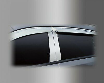 For Vauxhall Opel Antara 2007+ PVC Chrome B Pillar Sticker Trim Set (4 pcs)