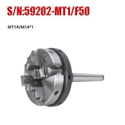 Engineering Small 50 mm 4 jaw Independent Chuck with MT1 Shank Arbor-Lathe,Mill