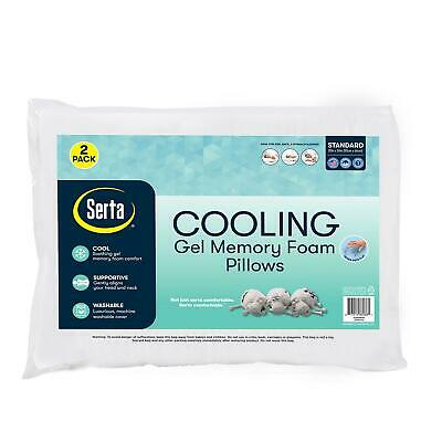 Serta Cooling Gel Memory Foam Cluster Pillows (2-pack) Free Shipping!!!