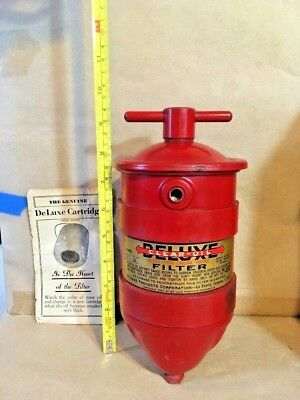 NOS Vintage Oil Filter Canister by DeLuxe Products Co.,LaPorte Ind. Hot Rod 30's