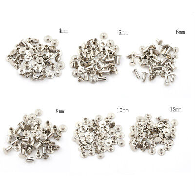 20PCS Nickel Binding Chicago Screws Nail Rivets Album Craft 5x6mm Useful WRDE