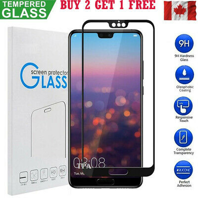 Full Coverage 3D Tempered Glass Screen Protector Huawei P20 Pro