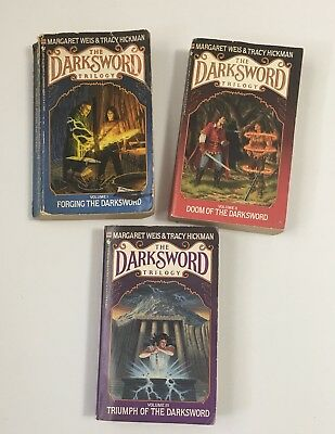 3 Darksword Trilogy Paperbacks by Margaret Weis And Tracy Hickman