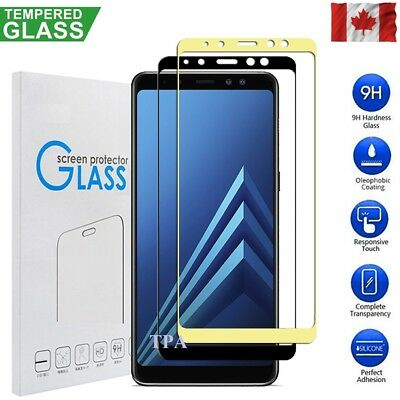 Full Coverage 3D Tempered Glass Screen Protector Samsung Galaxy A8 2018 A5 2017