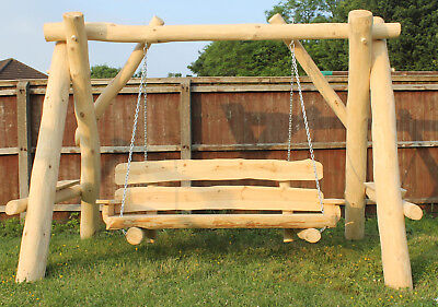 Fabulous Large Garden Wooden Swing Made From Real Natural Wood Seat Spiritservingveterans Wood Chair Design Ideas Spiritservingveteransorg