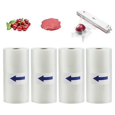 4 Rolls 8X50 Food Saver Vacuum Sealer Bags 4 mil FoodSaver Embossed Storage Bags