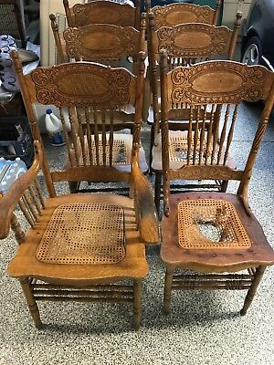Set of 6 Larkin #1 Dining Double Pressed Back Chairs