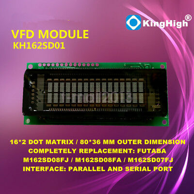 16x2 Dot Matrix Characters VFD Display Compatible with LCM1602 FUTABA M162SD07FA