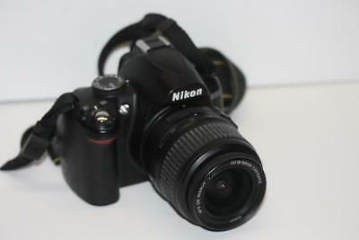 Nikon D D3000 14.2MP Digital SLR Camera w/ AF-S DX VR 18-55mm II Lens