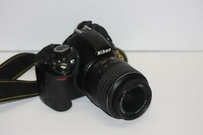 Nikon D D3100 14.2MP Digital SLR Camera - Black - Kit w/ AF-S DX VR 18-55mm Lens