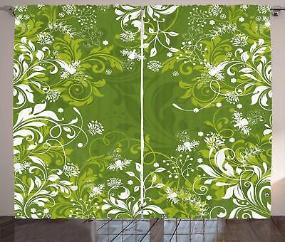 Green Curtains 2 Panel Set Home Decoration 5 Sizes Available Window Drapes
