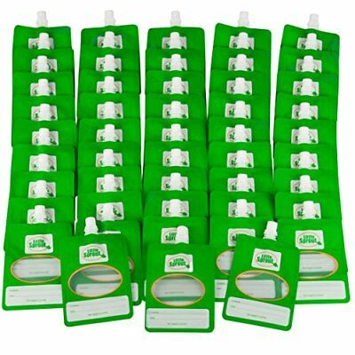 Disposable Baby Food Pouches (48ct) - Make Your Own 6 Ounce Squeezies - Works