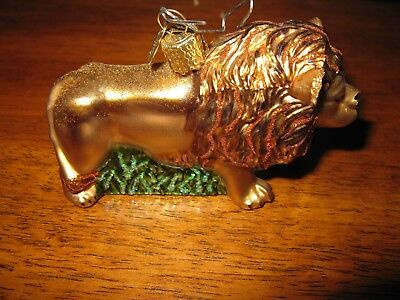 Lion Ornament Glass King Of The Beasts Old World Christmas