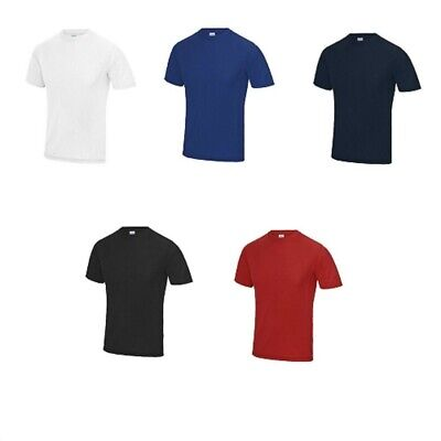 3 Or 5 Pack AWDis Mens SuperCool™ Performance Polyester T-Shirt Short Sleeve Tee