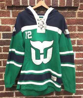 ... new zealand hartford whalers old time hockey lacer heavyweight pullover hoodie  green size m 5e110 80eed f54b81c8b