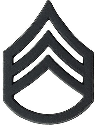 Staff Sergeant (SSG) E-6 Black Metal Pair