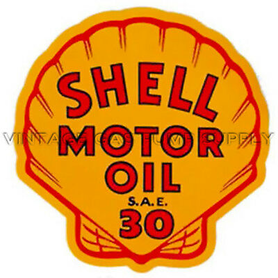 "Shell Motor Oil 9"" Water Transfer Decal (DW406)"